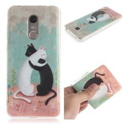 Black and White Cat IMD Soft TPU Cell Phone Back Cover for Mi Xiaomi Redmi 5 Plus