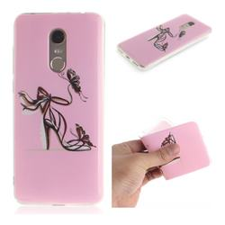 Butterfly High Heels IMD Soft TPU Cell Phone Back Cover for Mi Xiaomi Redmi 5 Plus