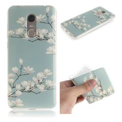 Magnolia Flower IMD Soft TPU Cell Phone Back Cover for Mi Xiaomi Redmi 5 Plus