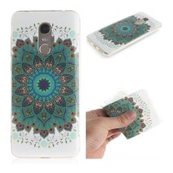 Peacock Mandala IMD Soft TPU Cell Phone Back Cover for Mi Xiaomi Redmi 5 Plus
