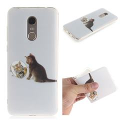 Cat and Tiger IMD Soft TPU Cell Phone Back Cover for Mi Xiaomi Redmi 5 Plus