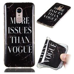 Stylish Black Soft TPU Marble Pattern Phone Case for Mi Xiaomi Redmi 5 Plus