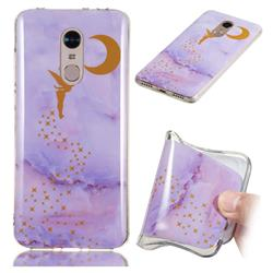 Elf Purple Soft TPU Marble Pattern Phone Case for Mi Xiaomi Redmi 5 Plus