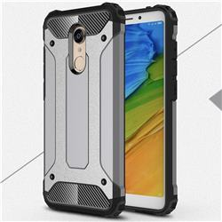 King Kong Armor Premium Shockproof Dual Layer Rugged Hard Cover for Mi Xiaomi Redmi 5 Plus - Silver Grey