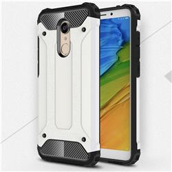 King Kong Armor Premium Shockproof Dual Layer Rugged Hard Cover for Mi Xiaomi Redmi 5 Plus - White