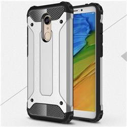 King Kong Armor Premium Shockproof Dual Layer Rugged Hard Cover for Mi Xiaomi Redmi 5 Plus - Technology Silver