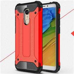 King Kong Armor Premium Shockproof Dual Layer Rugged Hard Cover for Mi Xiaomi Redmi 5 Plus - Big Red