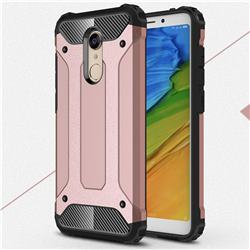 King Kong Armor Premium Shockproof Dual Layer Rugged Hard Cover for Mi Xiaomi Redmi 5 Plus - Rose Gold