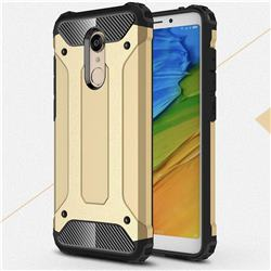King Kong Armor Premium Shockproof Dual Layer Rugged Hard Cover for Mi Xiaomi Redmi 5 Plus - Champagne Gold