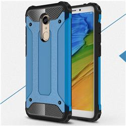 King Kong Armor Premium Shockproof Dual Layer Rugged Hard Cover for Mi Xiaomi Redmi 5 Plus - Sky Blue