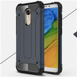 King Kong Armor Premium Shockproof Dual Layer Rugged Hard Cover for Mi Xiaomi Redmi 5 Plus - Navy