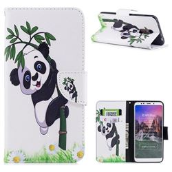 Bamboo Panda Leather Wallet Case for Mi Xiaomi Redmi 5 Plus