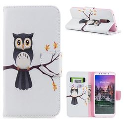 Owl on Tree Leather Wallet Case for Mi Xiaomi Redmi 5 Plus