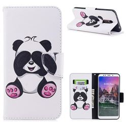 Lovely Panda Leather Wallet Case for Mi Xiaomi Redmi 5 Plus