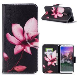 Lotus Flower Leather Wallet Case for Mi Xiaomi Redmi 5 Plus