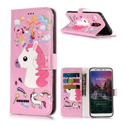 Love Rainbow Unicorn PU Leather Wallet Phone Case for Mi Xiaomi Redmi 5 Plus