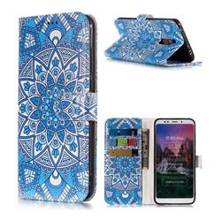 Retro Totem Flower PU Leather Wallet Phone Case for Mi Xiaomi Redmi 5 Plus
