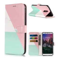 Tricolor Marble PU Leather Wallet Phone Case for Mi Xiaomi Redmi 5 Plus