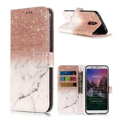 Glittering Rose Gold PU Leather Wallet Phone Case for Mi Xiaomi Redmi 5 Plus
