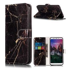 Black Gold Marble PU Leather Wallet Case for Mi Xiaomi Redmi 5 Plus