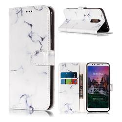 Soft White Marble PU Leather Wallet Case for Mi Xiaomi Redmi 5 Plus