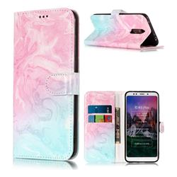 Pink Green Marble PU Leather Wallet Case for Mi Xiaomi Redmi 5 Plus