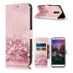 Glittering Rose Gold PU Leather Wallet Case for Mi Xiaomi Redmi 5 Plus