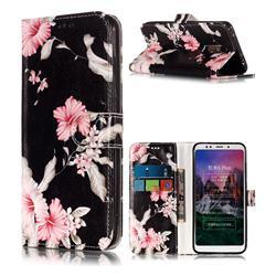 Azalea Flower PU Leather Wallet Case for Mi Xiaomi Redmi 5 Plus