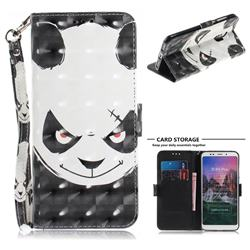 Angry Bear 3D Painted Leather Wallet Phone Case for Mi Xiaomi Redmi 5 Plus