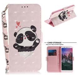 Heart Cat 3D Painted Leather Wallet Phone Case for Mi Xiaomi Redmi 5 Plus