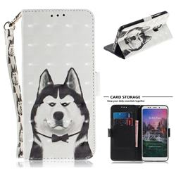 Husky Dog 3D Painted Leather Wallet Phone Case for Mi Xiaomi Redmi 5 Plus