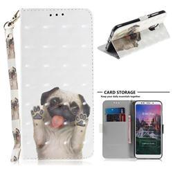 Pug Dog 3D Painted Leather Wallet Phone Case for Mi Xiaomi Redmi 5 Plus