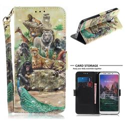 Beast Zoo 3D Painted Leather Wallet Phone Case for Mi Xiaomi Redmi 5 Plus