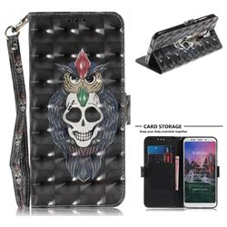 Skull Cat 3D Painted Leather Wallet Phone Case for Mi Xiaomi Redmi 5 Plus