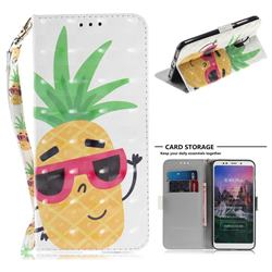 Pineapple Glasses 3D Painted Leather Wallet Phone Case for Mi Xiaomi Redmi 5 Plus