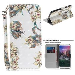 Dragon Flower 3D Painted Leather Wallet Phone Case for Mi Xiaomi Redmi 5 Plus