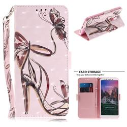 Butterfly High Heels 3D Painted Leather Wallet Phone Case for Mi Xiaomi Redmi 5 Plus
