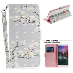 Magnolia Flower 3D Painted Leather Wallet Phone Case for Mi Xiaomi Redmi 5 Plus