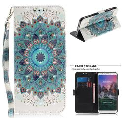Peacock Mandala 3D Painted Leather Wallet Phone Case for Mi Xiaomi Redmi 5 Plus