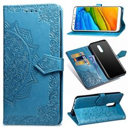 Embossing Imprint Mandala Flower Leather Wallet Case for Mi Xiaomi Redmi 5 Plus - Blue
