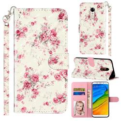 Rambler Rose Flower 3D Leather Phone Holster Wallet Case for Mi Xiaomi Redmi 5 Plus