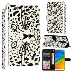 Leopard Panther 3D Leather Phone Holster Wallet Case for Mi Xiaomi Redmi 5 Plus