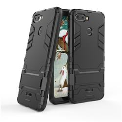 Armor Premium Tactical Grip Kickstand Shockproof Dual Layer Rugged Hard Cover for Mi Xiaomi Redmi 6 - Black