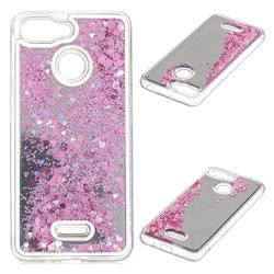 Glitter Sand Mirror Quicksand Dynamic Liquid Star TPU Case for Mi Xiaomi Redmi 6 - Cherry Pink