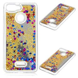 Glitter Sand Mirror Quicksand Dynamic Liquid Star TPU Case for Mi Xiaomi Redmi 6 - Yellow