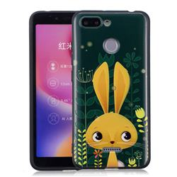 Cute Rabbit 3D Embossed Relief Black Soft Back Cover for Mi Xiaomi Redmi 6