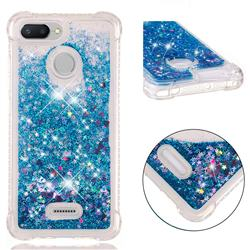 Dynamic Liquid Glitter Sand Quicksand TPU Case for Mi Xiaomi Redmi 6 - Blue Love Heart