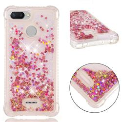 Dynamic Liquid Glitter Sand Quicksand TPU Case for Mi Xiaomi Redmi 6 - Rose Gold Love Heart