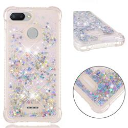Dynamic Liquid Glitter Sand Quicksand Star TPU Case for Mi Xiaomi Redmi 6 - Silver