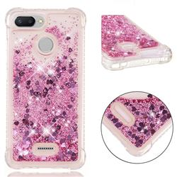 Dynamic Liquid Glitter Sand Quicksand Star TPU Case for Mi Xiaomi Redmi 6 - Diamond Rose